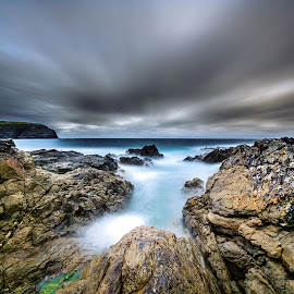 Into. by Piotr Dominiak - Landscapes Waterscapes ( valentia island, ireland, sunset, west coast, seascape, piotr dominiak )