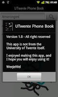 Screenshot of UTwente Phone Book