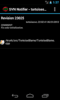 Screenshot of SVN Notifier Lite for Android