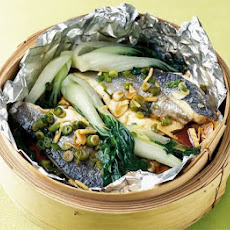 Steamed Bass With Pak Choi
