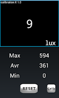 Screenshot of Lux Meter