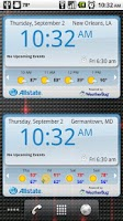 Screenshot of WeatherBug Time & Temp widget