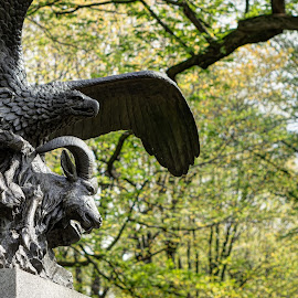 Eagle and Goat statue by Bogard Anejo - Novices Only Objects & Still Life ( ilce-6000, sony, f1.8, 2014, a6000, 50mm, nyc, central park, mirrorless )