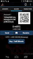 Screenshot of Mycelium Bitcoin Wallet