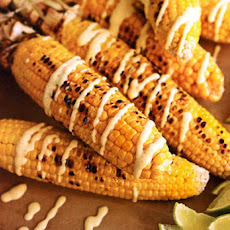 Corn with Curried Yogurt Sauce Recipe