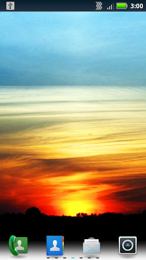 Crimson Sunsets Live Wallpaper