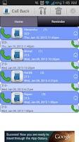 Screenshot of Call Back