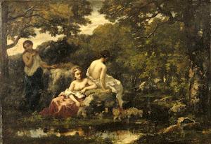 RIJKS: Narcisse Virgile Diaz de la Peña: painting 1853