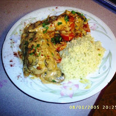 Chicken With a Creamy Vegetable Sauce