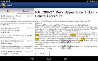 Screenshot of NYPD Patrol Guide