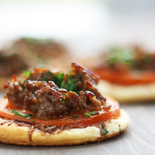 Italian Sausage Mini Pizzas with Balsamic Syrup