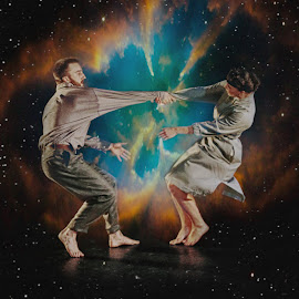 The spin by Andrei Stan - People Musicians & Entertainers ( woman, spin, space, dance, universe, man,  )