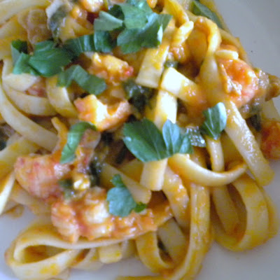 Langostino and Clam Pasta