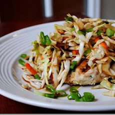 Pot Sticker Burgers with Spicy Asian Slaw