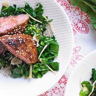 Duck Breast With Ginger Sesame Greens