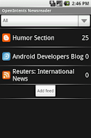 Screenshot of OI News Reader