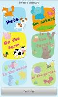 Screenshot of Baby first words: Animals *