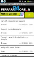 Screenshot of Ferrara24ore