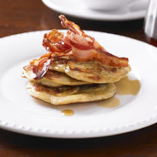 Banana Pancakes With Crispy Bacon & Syrup