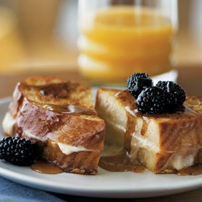 Mascarpone-Stuffed French Toast with Blackberries