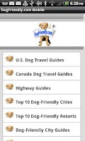 Screenshot of DogFriendly.com Mobile