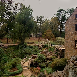 The Old Mill by Zeralda La Grange - Instagram & Mobile iPhone ( #mill, #landscape, #arkansas, #nature, #littlerock )