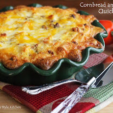 Cornbread and Sausage Quiche