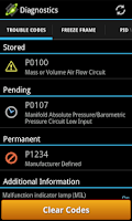 Screenshot of OBDLink (OBD car diagnostics)