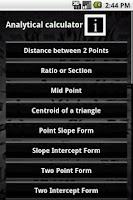 Screenshot of Analytical Calculator