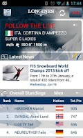 Screenshot of Live Alpine Skiing by Longines