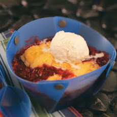 Cake & Berry Campfire Cobbler Recipe