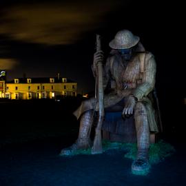 TOMMY War Statue by Darren Allison - Buildings & Architecture Statues & Monuments ( monuments, statues, long exposure, night, landscape, war )
