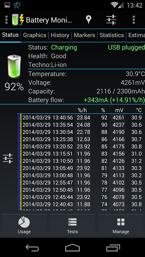 3C Battery Monitor Widget Pro Screenshot 3