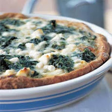 Spinach, Caramelized Onion, and Feta Quiche
