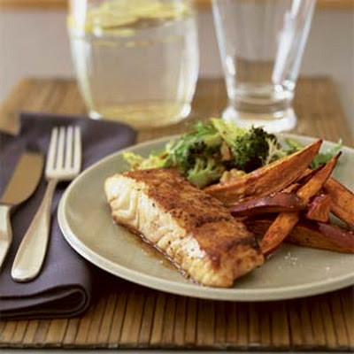 Balsamic-Glazed Halibut