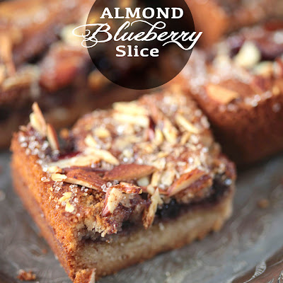 Almond Blueberry Slice