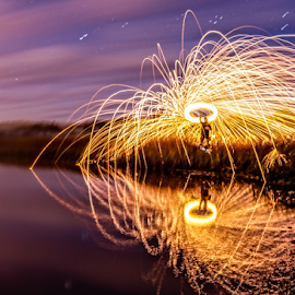 Ring of Fire 2 by Matt Reynolds - Abstract Light Painting