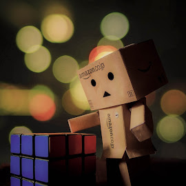 Well,its done by Sai Kishore - Digital Art Things ( danbo, digital art, toys, things, photography )
