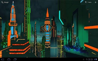 Screenshot of Space City Colony 3D  LWP