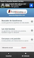 Screenshot of Gasolineras Baratas en España
