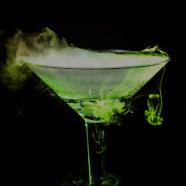 Not to drink just show by Samantha MackeyWilson - Food & Drink Alcohol & Drinks ( water, green, glass, smoke, dry ice )