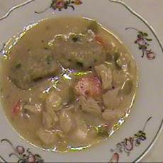 Chicken Stew With Onion Dumplings