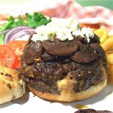 Laura's Stuffed Burgers with Zinfandel Sauce