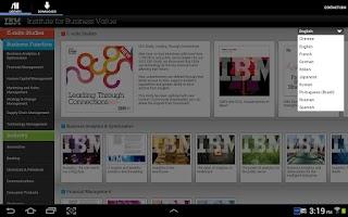 Screenshot of IBM IBV