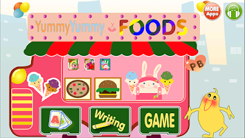Screenshot of ABC Food Flashcard  Read Write