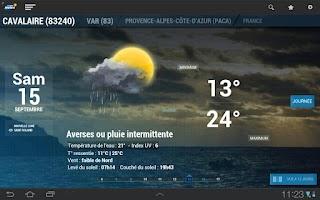 Screenshot of La chaine météo pour tablette