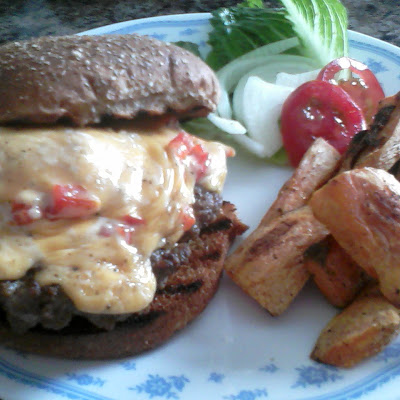 Cheese and Pimento Burgers