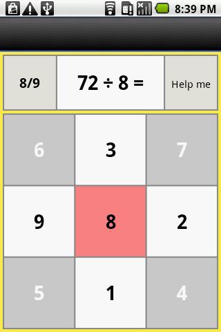 one digit division