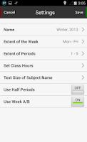Screenshot of Handy Timetable
