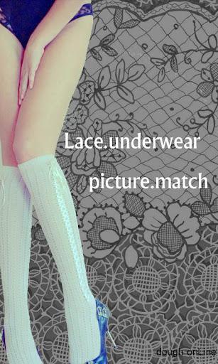 Lace underwear picture match